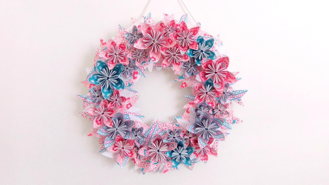 Couronne de fleurs en papier truc tricks for Couronne de fleurs