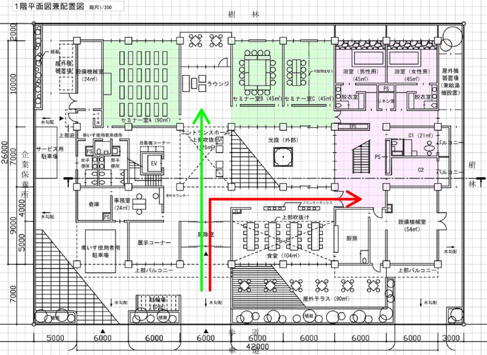 なお、配置計画でも説明しましたが、無駄なスペースは作らないといった意識が必要になってきます。