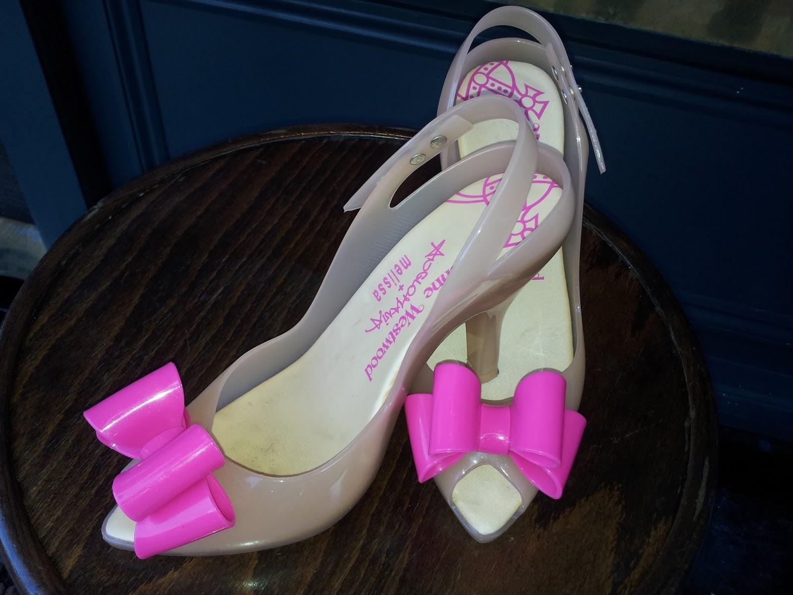 49d6072c06f Likes and Love   Vivienne Westwood Melissa pink bow slingback heels