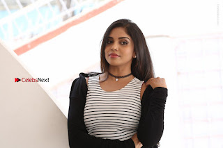 Telugu Actress Karunya Chowdary Stills in Black Dress at Soda Goli Soda Movie Opening  0363.JPG