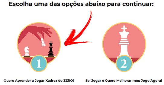 Escolha a opç̣ão: Quero Aprender a Jogar Xadrez do Zero