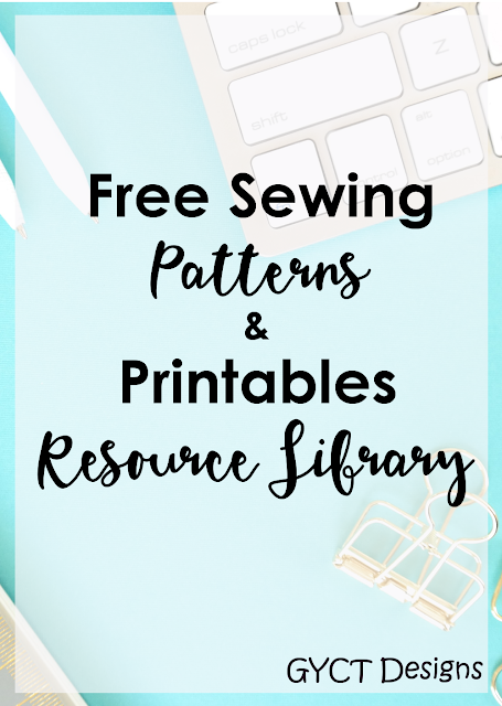 GYCT Designs Subscriber Resource Library has tons of free sewing patterns and printable organizers.  You'll gain access to all of them for free.