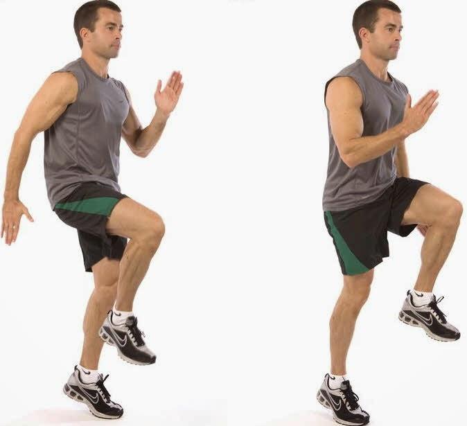 how to do spot jogging