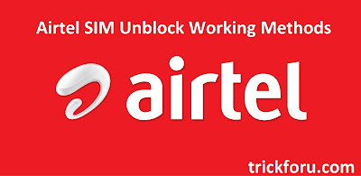 Airtel sim unblocking methods