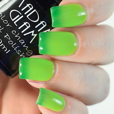 madam glam green switch swatch