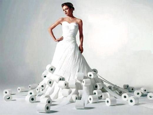 Amazing Wedding Dresses Made Out Of Toilet Paper Zabavnik