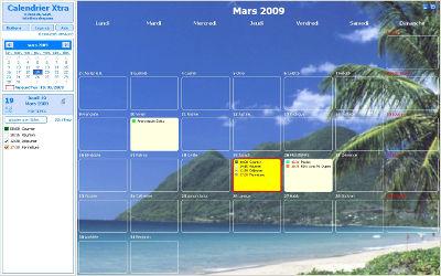 Calendrier XTRA - Agenda de Bureau Windows