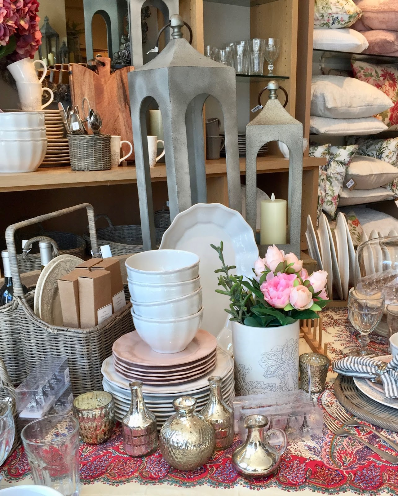 At Rivercrest Cottage Gray And Pink At Pottery Barn
