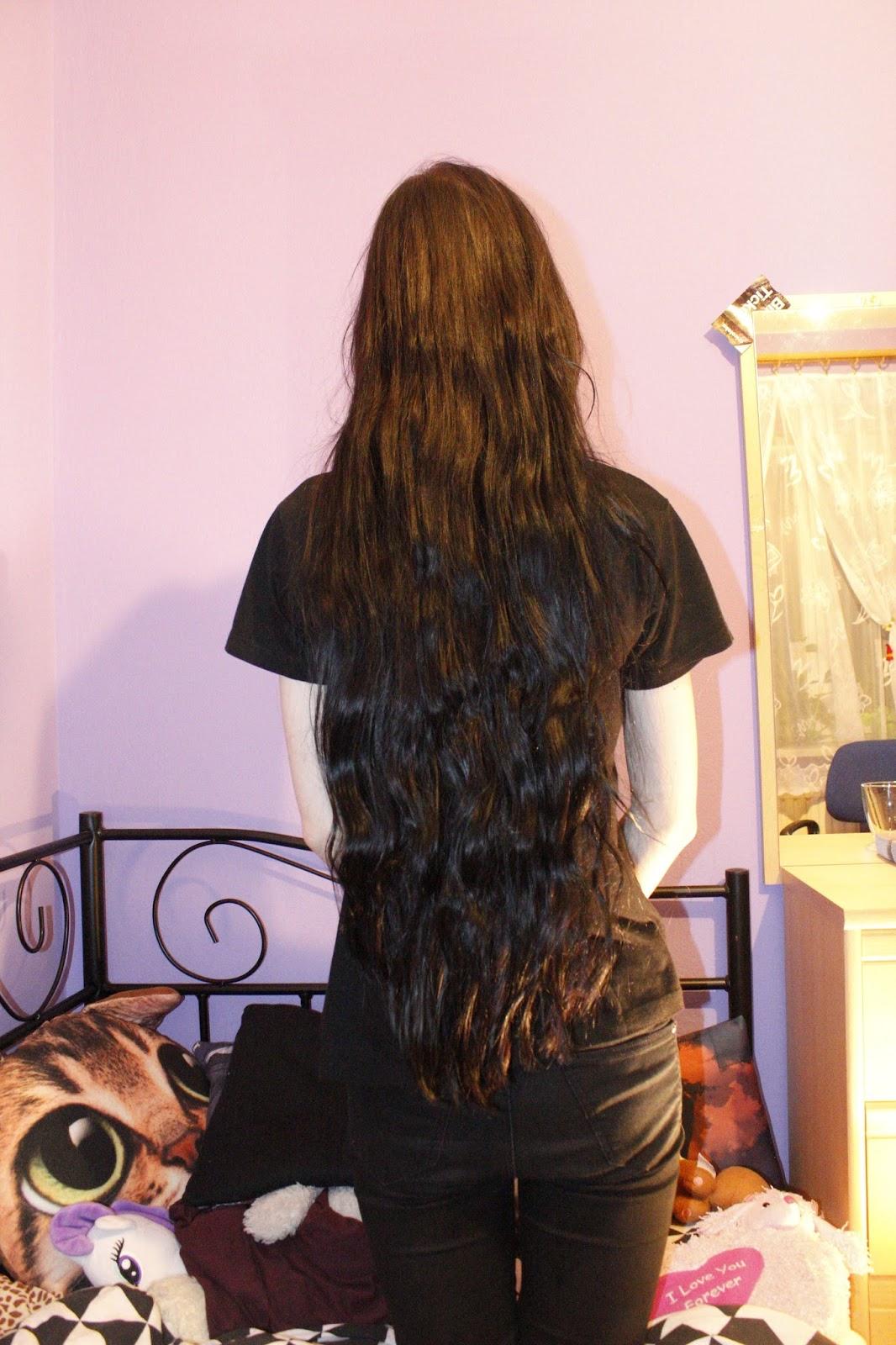 włosy po warkoczu