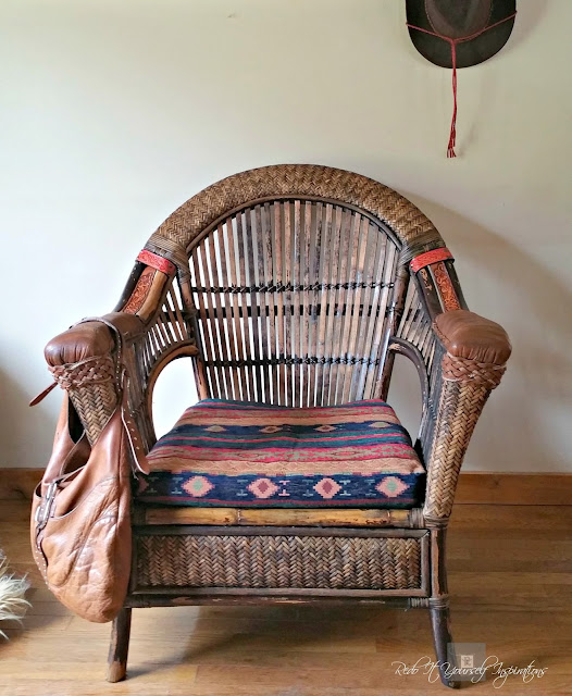 Pier 1 Wicker And Rattan Chair Makeover