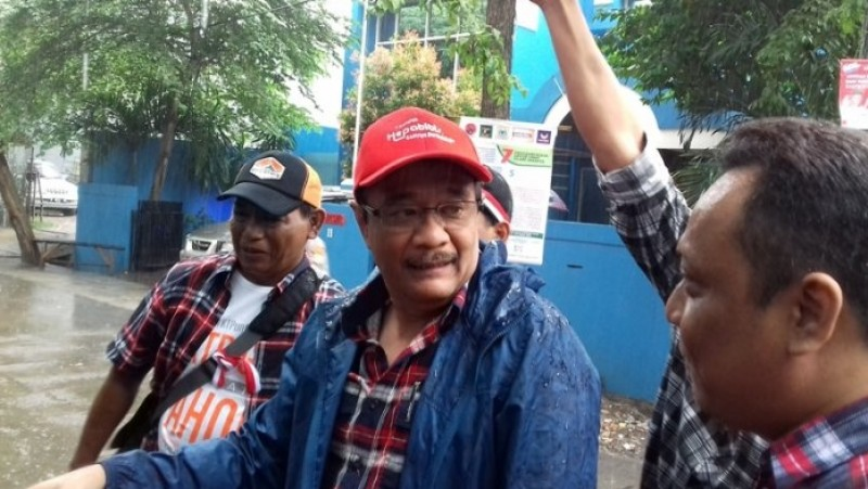 Djarot Saiful Hidayat blusukan di Jati Pulo