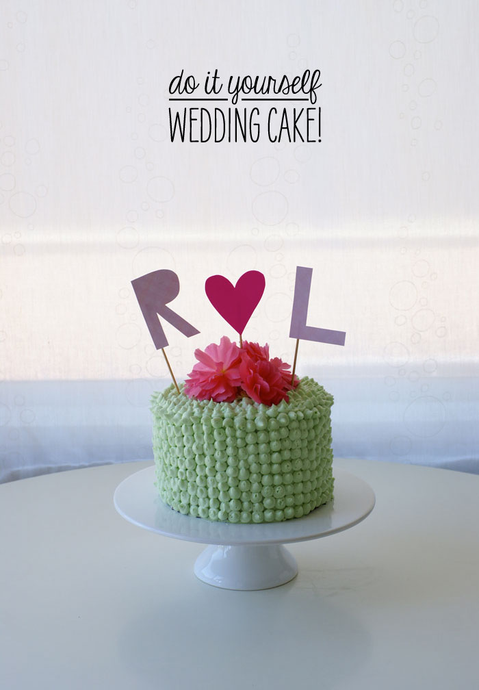 do it yourself wedding cake ideas do it yourself wedding cake poppytalk 13690