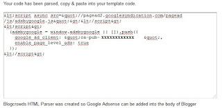 cara pasang jenis iklan Google Adsense Page-level Ads di Blogspot