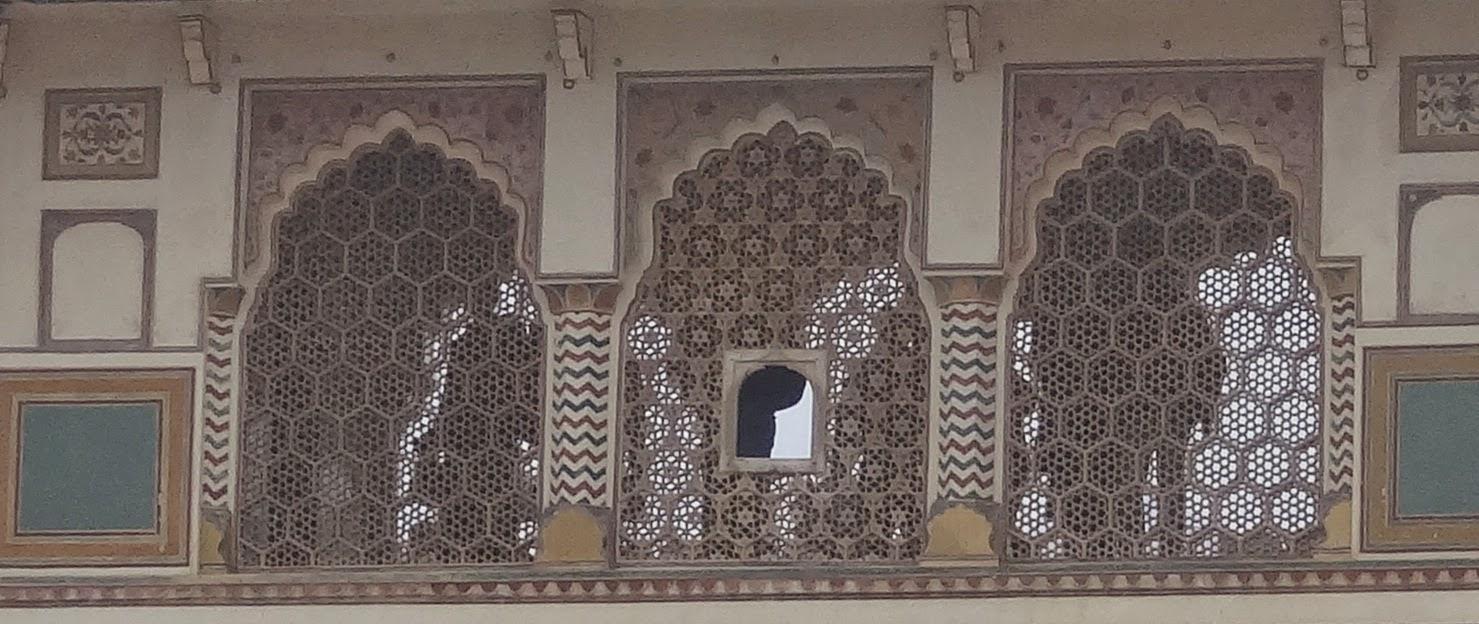 Jaali - Latticed Window of Amber fort - Rajasthan India - Pick, Pack, Go