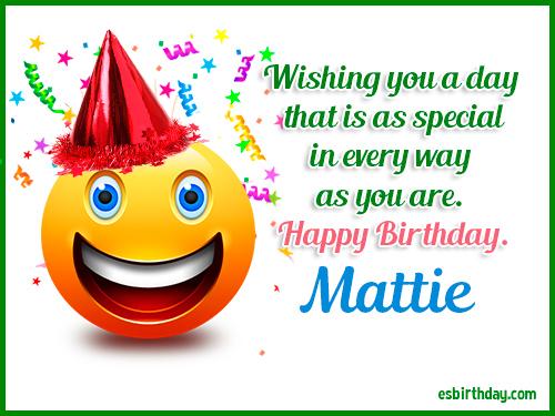 Strange Happy Birthday Mattie Personalised Birthday Cards Epsylily Jamesorg