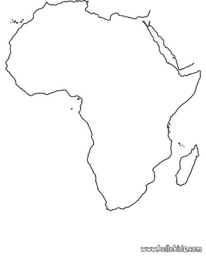 Mapa do Continente Africano! - ESPAÇO EDUCAR