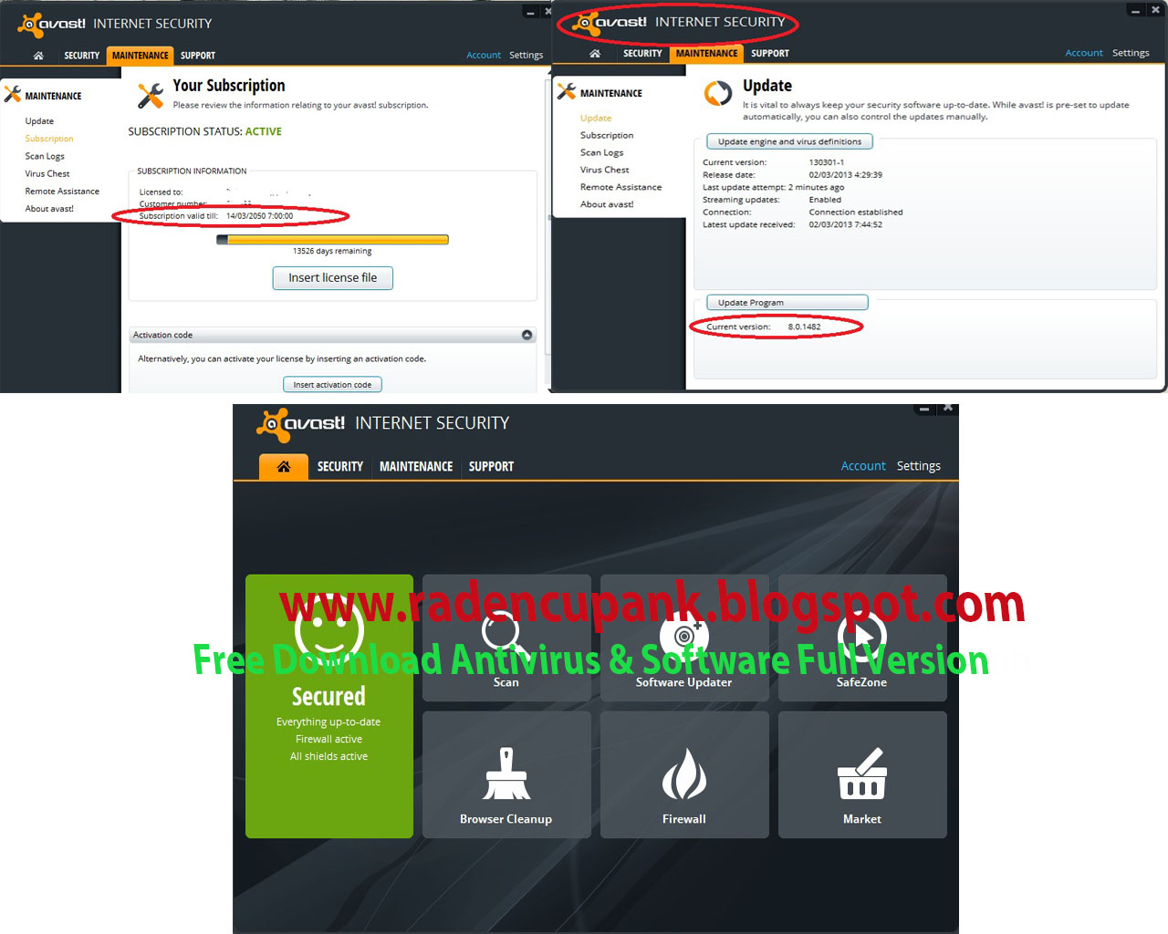 Raden Cupank: Avast! Internet Security 8.0.1482 Full ...