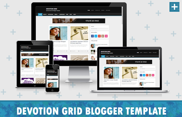 Simple Grid Responsive Blogger Template Free Download Template 55