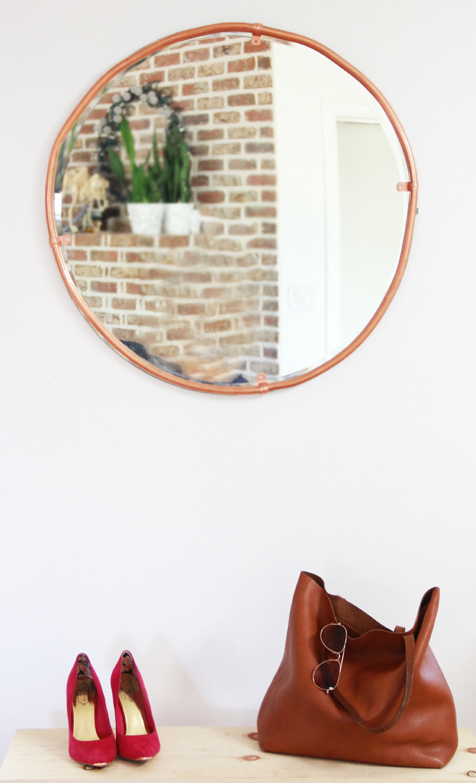 A Bubbly LifeDIY Large Copper Round Mirror