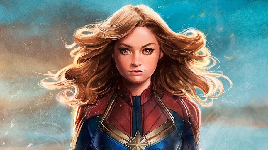 Captain Marvel Movie Comics Art 4k Wallpaper 31