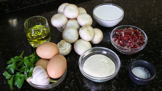Ingredientes para champiñones rellenos