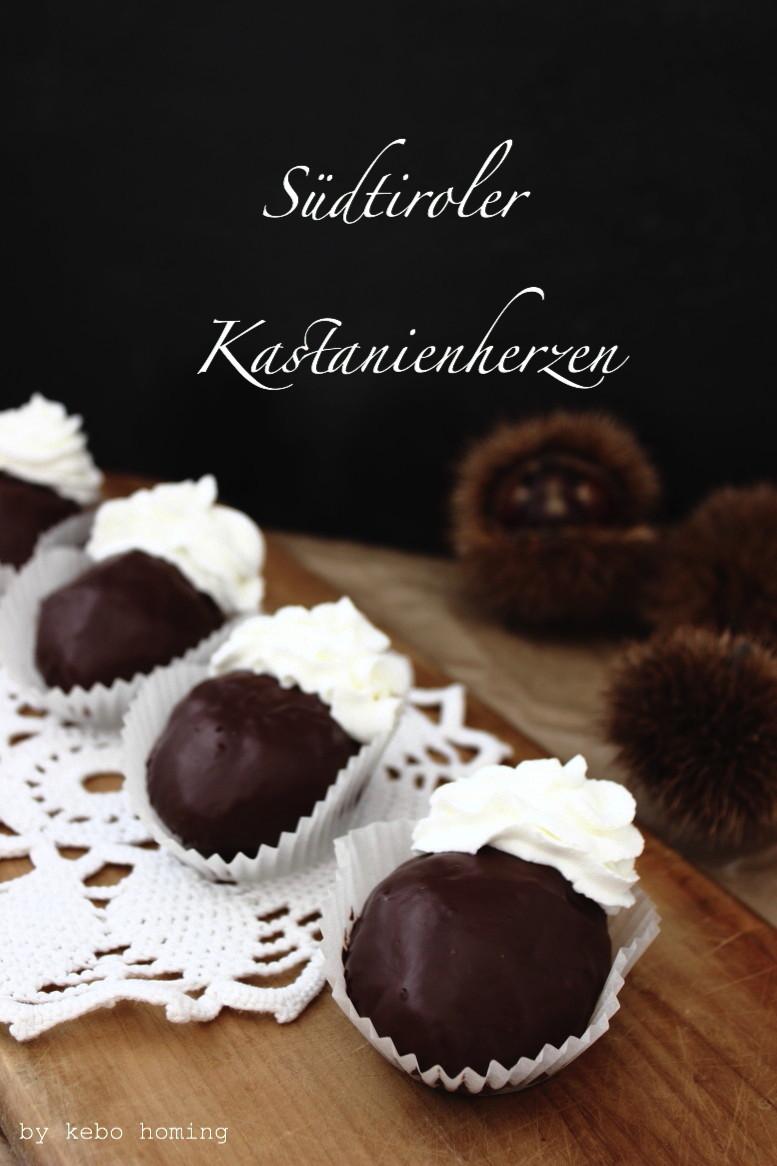 Südtiroler Kastanienherzen, eine Spezialität aus meiner Heimat Südtirol, das Rezept von dem Sonntagssüß gibt es auf dem Südtiroler Food- und Lifestyleblog kebo homing, Foodstyling and photography
