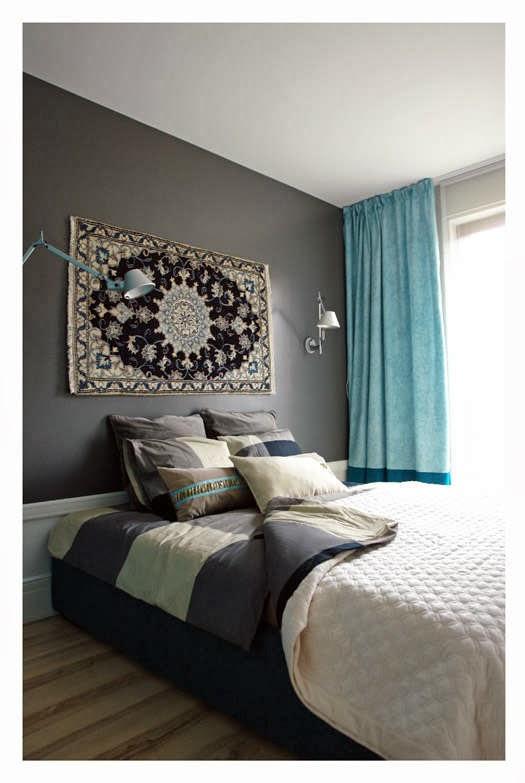 El blog de demarques apartamento en tonos grises y azules for Habitaciones en tonos grises