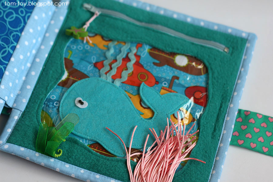 Handmade quiet book for Lucinda, fabric busy book, развивающая книжка
