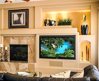 ديكور شاشات تلفزيون