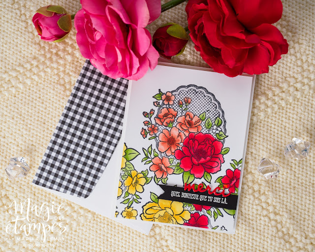 carte présentant le jeu Lovely Lattice Stampin' Up! Sale-a-bration 2019