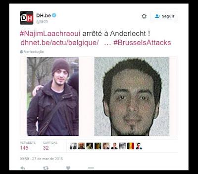 Terceiro suspeito dos atentados detido