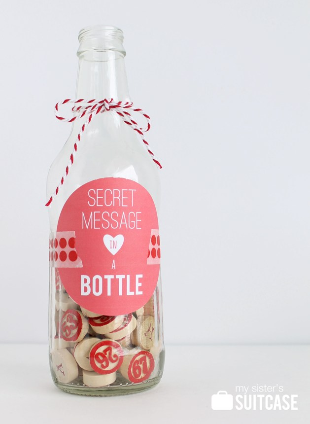 Secret Message In A Bottle Valentine My Sisters Suitcase
