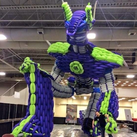 """Poptimus Prime"" by John Reid at Epic Balloons"