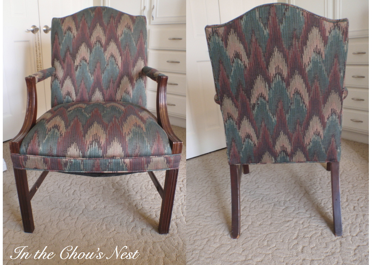 Reupholster Office Chair With Arms Cover Express Ann Arbor In The Chou 39s Nest Before And After Reupholstered