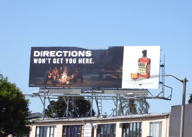 Knob Creek Directions wont get your here billboard