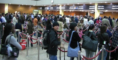 Check in counter queue