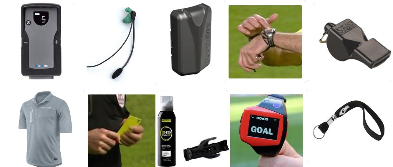 Accesorios para el equipamiento del rbitro  rbitros de