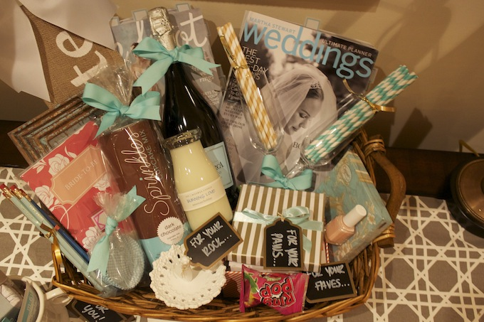 Gift For Newly Wed: The Monogrammed Marie: Newlywed Gift Basket