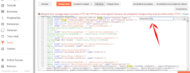 Mengganti kode HTTP menjadi HTTPS pada template blogger