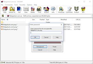 Cara Mudah Memberi Password Pada File WinRAR