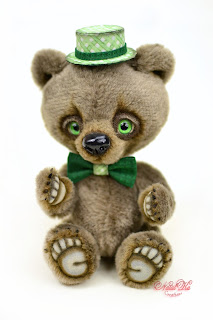 Artist teddy bear, handmade bear, ooak bear, NatalKa Creations, teddies with charm, teddy bears, Künstlerteddy, Künstlerbär, Teddybär, Unikat, artist teddy bear buy, Teddybär kaufen