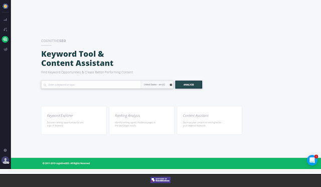 Cognitive SEO Keyword Tool and Content Assitant