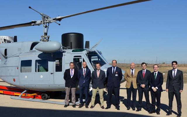 La UTE SENER-INAER entrega a la Armada el tercer helicóptero AB-212 modernizado