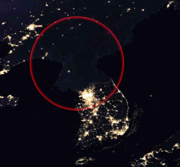 north korea night