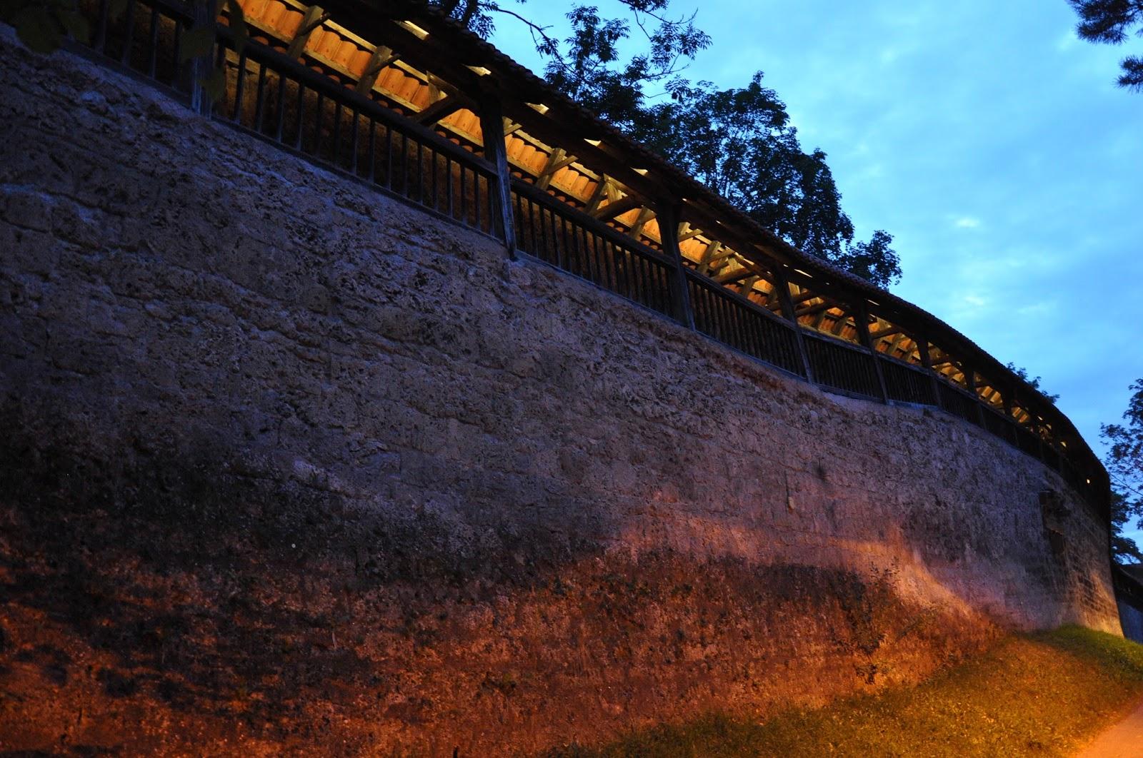 The medieval defensive wall, Kaufbeuren, Bavaria, Germany