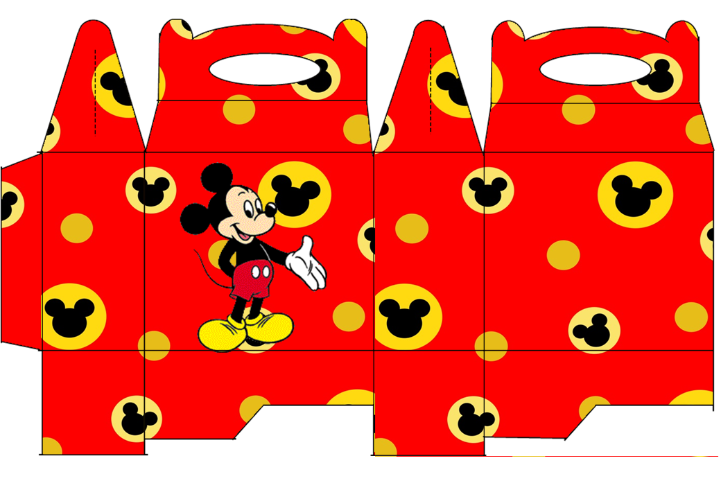 Mickey Free Printable Lunch Box.