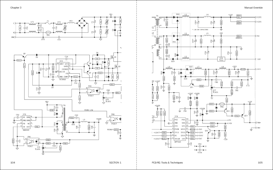 The Art of PCB Reverse Engineering: Tools & Techniques: ATX Power ...