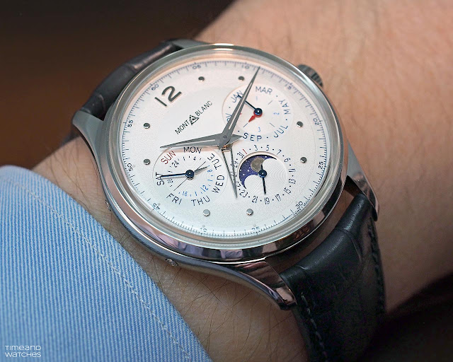 Montblanc Heritage Perpetual Calendar ref. 119925 on the wrist