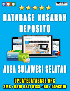 Jual Database Nasabah Deposito Sulawesi Selatan