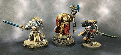 Completed Characters from Grey Knights, Custodes, and Deathwatch